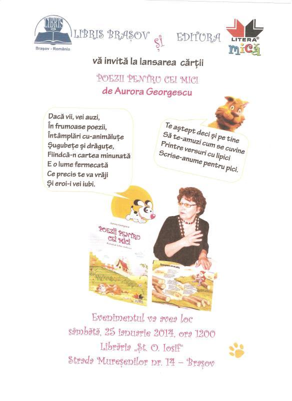 Afis lansare  librarie Brasov 005